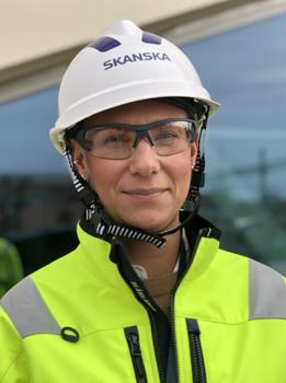 Elin Westberg, projektchef på Skanska