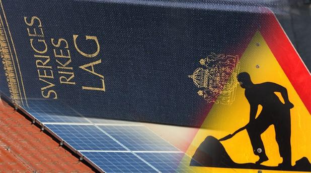 lagändringar, solpaneler, byggarbetsplatser