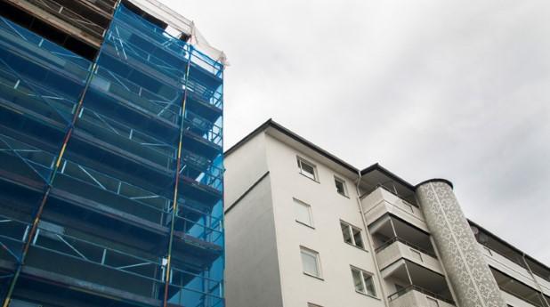 Renovering av bostäder i Husby.