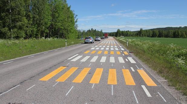 vägmarkeringar, väg