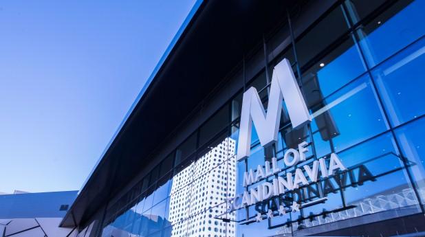 Bild av del av fasad Mall of Scandinavia