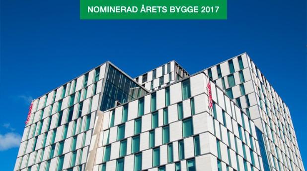 Stockholm Continental, hotell och bostäder i ett projekt är nominerade till Årets Bygge 2017.