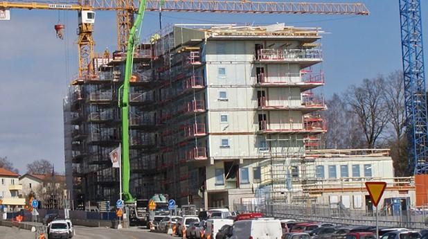 Arbete med att bygga nya bostäder