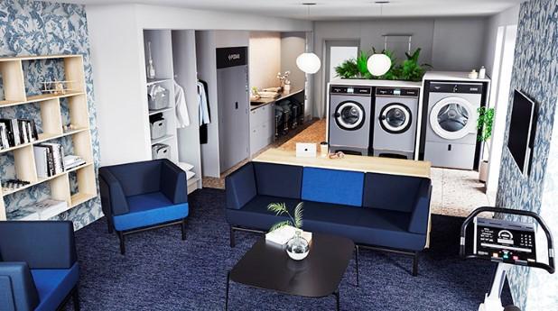 Tvättstudio i HSBs bostadsrättsförening Mariedahl