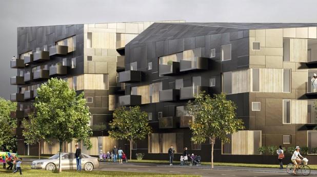 Snabb byggprocess ger bostäder och förskola i kvarteret Triton i Västerås.