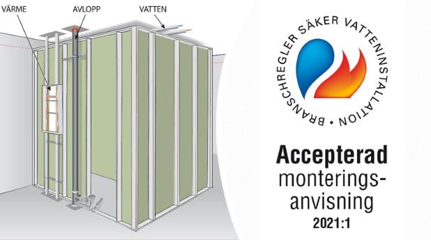 prefabricerad-installationsmodul-samt logotyp for accepterad monteringsanvisning