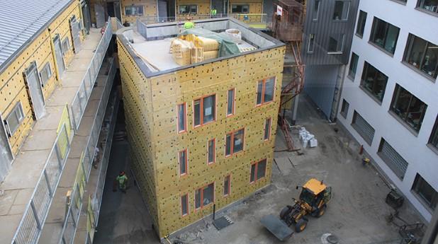 Nybyggt hus i Göteborg