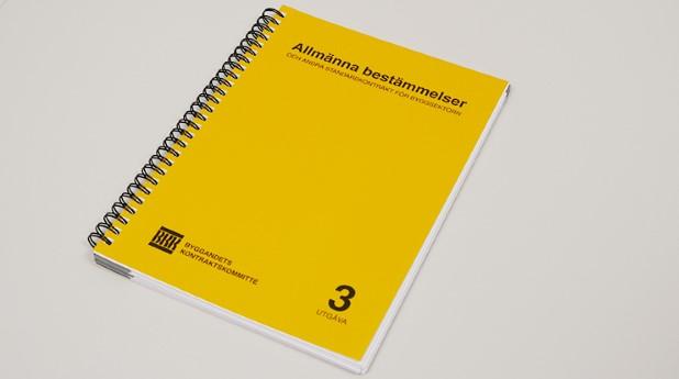 Allmänna bestämmelser och andra standardkontrakt för byggsektorn har kommit i en ny utgåva.