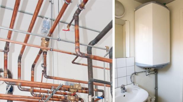 Rör och varmvattenberedare