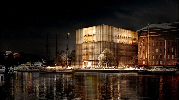 Illustration av Nobel Center byggnaden