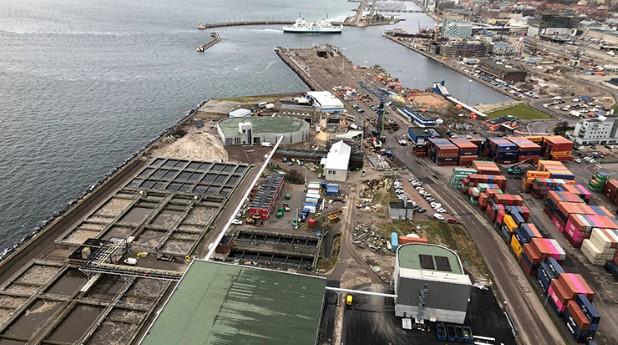 Öresundsverket i Helsingborg ligger nära de områden som håller på att bebyggas.