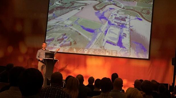 3-D karta över översvämningsområde