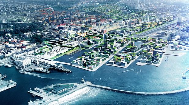 Oceanhamnen är en av fyra nya stadsdelar som ingår i projektet H+ i Helsingborg.