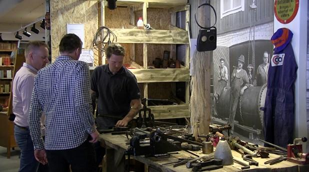 Många kom till invigningen av VVS-museet i Bromma.