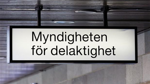 Skylt med texten myndigheten-for-delaktighet_roland-magnusson_740x413