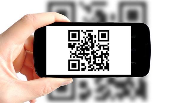 Avläsning med QR-kod i telefon.