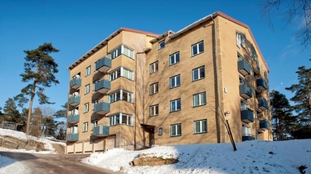 Flerbostadshus på Vintergatan i Borås