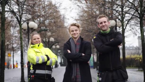 Sanna Immonen, Martin Modin och Hampus Hedström