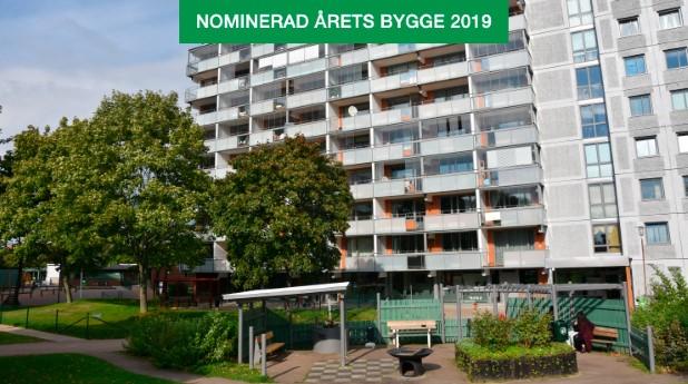 Miljonprogramområdet Närlunda Östra i Helsingborg har rustats upp både utvändigt och invändigt.