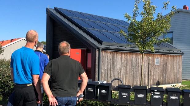 Solvärmeanläggning i Kungsbacka