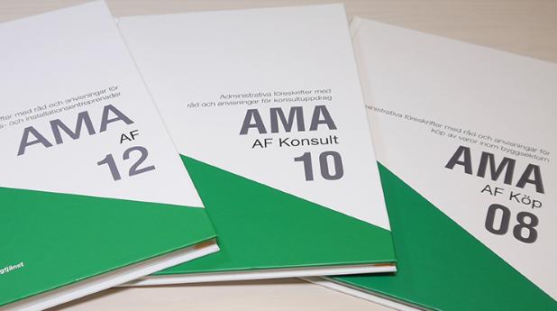 AMA AF 12, AMA AF Konsult 10, AMA AF Köp 08 påverkas alla av att GDPR har införts.