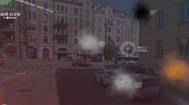 air-view. Digital tjänst som mäter och visar luftföroreningar i gaturummet.