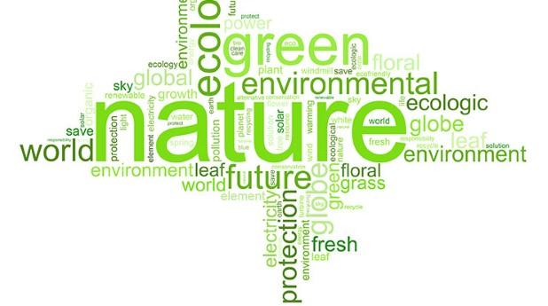 Illustration av grönt byggande