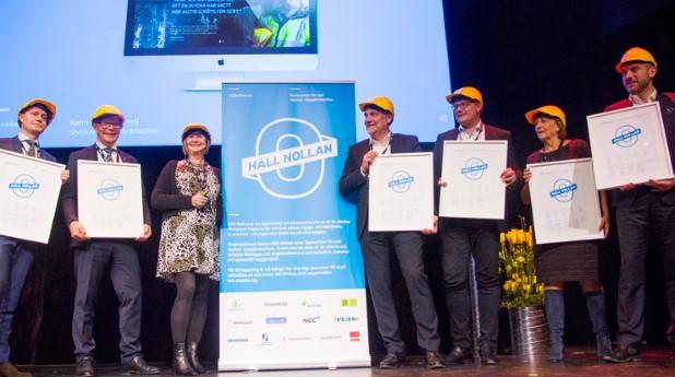 Initiativtagarna till Håll nollan premieras vid lanseringen på Årets Bygge 2017_hall_nollan_02