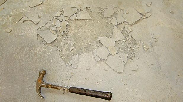 betonggolv hammare