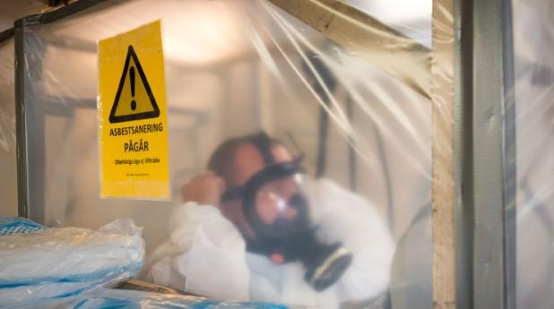 Pågående asbestsanering