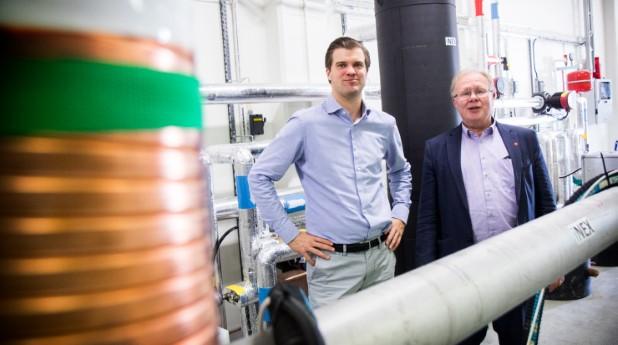Labb för energiåtervinning ur spillvatten