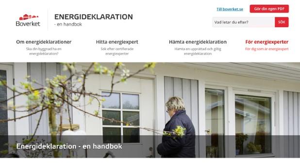 Boverkets digitala handbok om energideklarationer