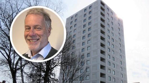 Lars-Johan Lindberg från Riksbyggen och kvarteret Valvankaret