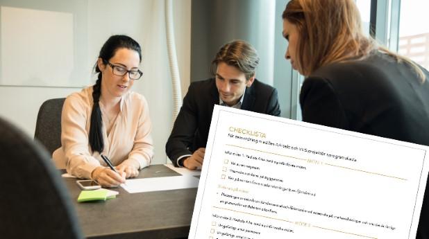 Kontorsmöte-checklista