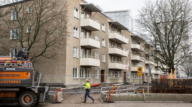 Renovering av flerbostadshus
