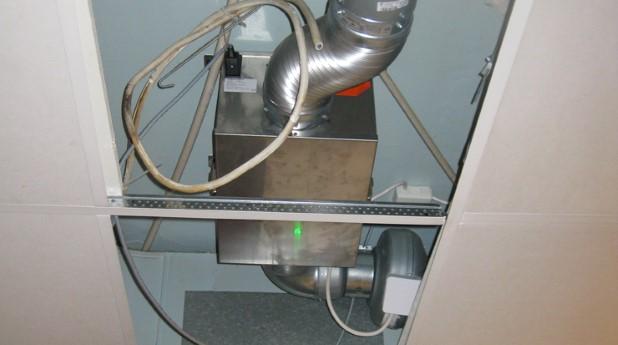 Ventilation med ett ozonaggregat