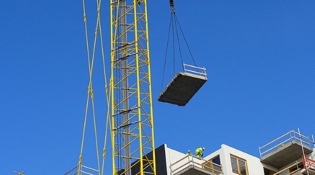 byggarbetsplats, byggkran