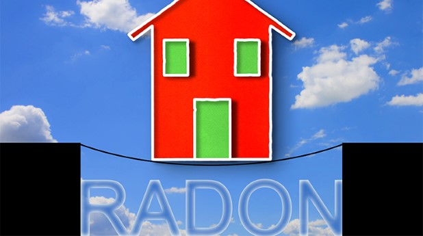 40128497-building-in-balance-over-the-dangerous-radon-gas