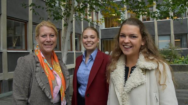 Vd Sveriges Byggindustrier och två av initiativtagarna till det nya priset Jämställdhetsbygget