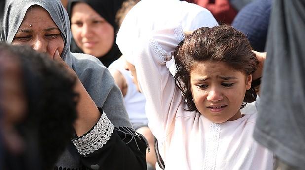 flicka, syrier, flykting