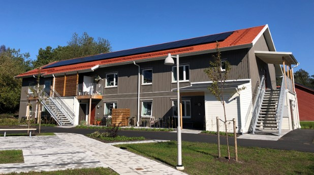 Solvärme på flerbostadshus i Kungsbacka
