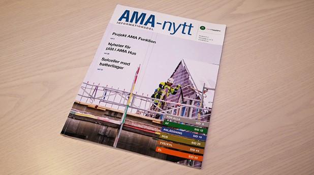 Senaste AMA-nytt kom ut i december 2018.