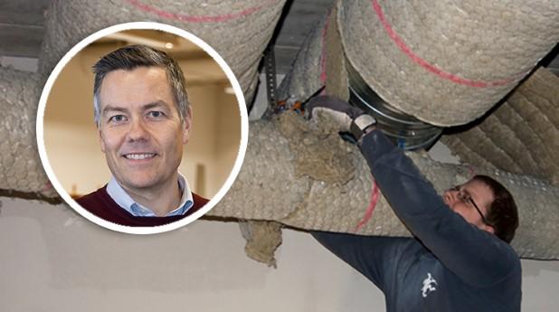 Isolering av ventilationskanaler och Johan Sjölund, IF