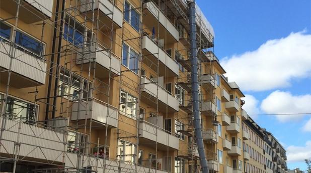 Renovering, Stockholm, fasad